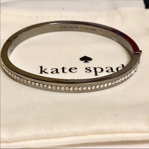 NEW! Kate Spade Black And crystal bangle